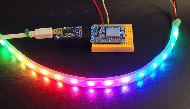 Control Programmable RGB LED Strip WS2811 using Amazon Echo